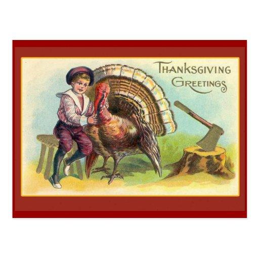 Vintage Thanksgiving Art Greeting Cards Postcards