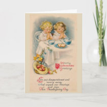 Vintage - Thanksgiving Blessings and Joys, Holiday Card