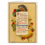 Vintage Thanksgiving Card with Poem Greeting Card