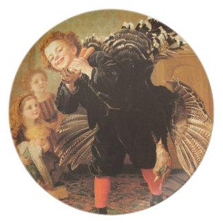 Vintage Thanksgiving Children & Turkey Plate