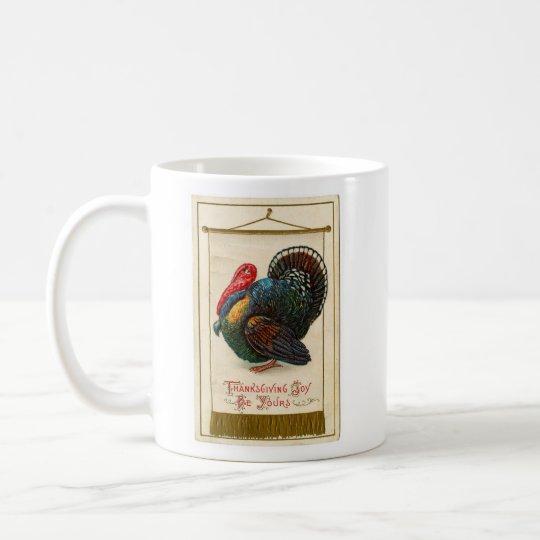 Vintage Thanksgiving Colorful Turkey Coffee Mug