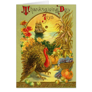 Vintage Thanksgiving Day Card