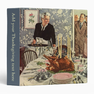 Vintage Thanksgiving Day Turkey Dinner with Family Binder