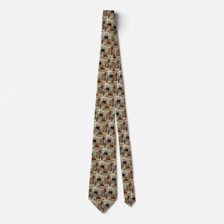 Vintage Thanksgiving Day Turkey Dinner with Family Neck Tie
