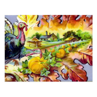 Vintage Thanksgiving Day Turkey Postcard