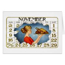 Vintage Thanksgiving Dinner Greeti... - Customized Card