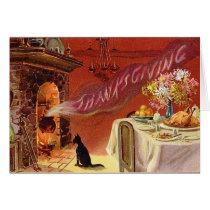 Vintage Thanksgiving Dinner Greeting Card