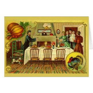 Vintage Thanksgiving Dinner Invitation/Card Card