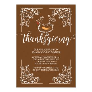 Vintage Thanksgiving Dinner Party Invitation