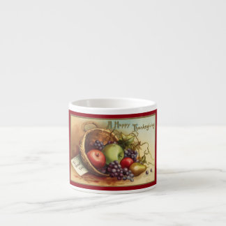 Vintage Thanksgiving Fruit Espresso Cup