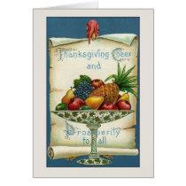 Vintage Thanksgiving Fruit Greeting Card