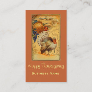 vintage turkey business cards zazzle