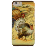 Vintage Thanksgiving Greeting with a Turkey Barely There iPhone 6 Plus Case