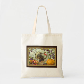 Vintage Thanksgiving Greetings Budget Tote