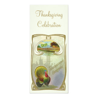 Vintage Thanksgiving Greetings Invitation