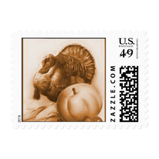 Vintage Thanksgiving Greetings Postage Stamps
