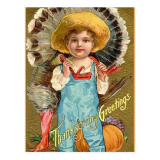 Vintage Thanksgiving Greetings Post Card