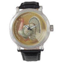 Vintage Thanksgiving Holiday Turkey watch