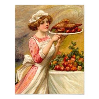 Vintage Thanksgiving Holidays Party INVITATIONS