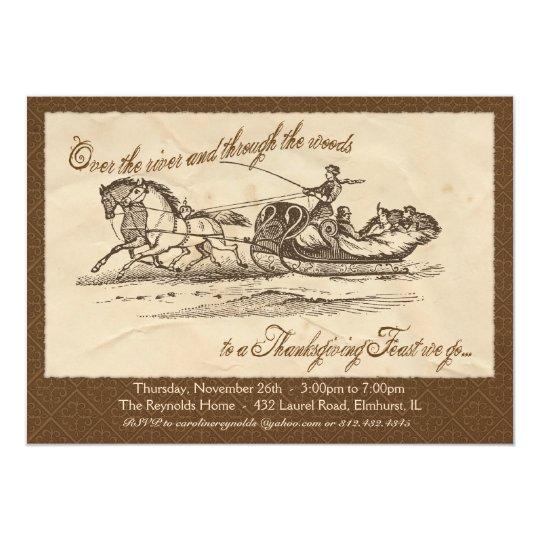 Vintage Thanksgiving Invitation