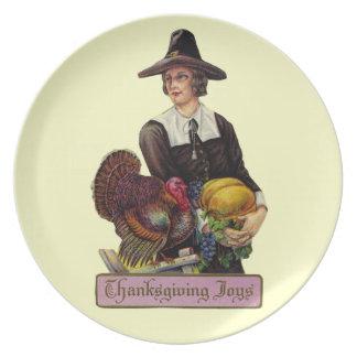 Vintage Thanksgiving Joy Plate