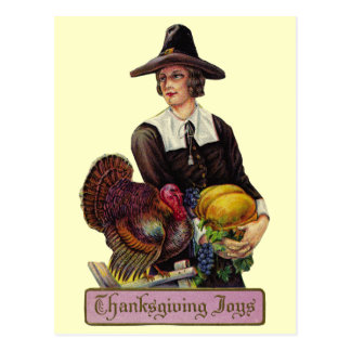 Vintage Thanksgiving Joy Postcard