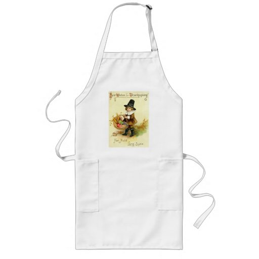Vintage Thanksgiving Long Apron