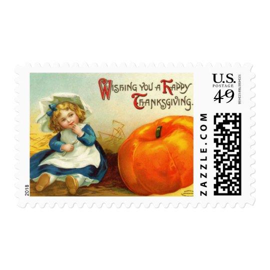 Vintage Thanksgiving Medium Postage