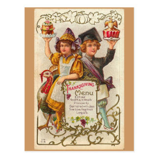 Vintage Thanksgiving Menu Postcard