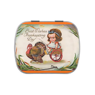 Vintage Thanksgiving Mint Filled Candy Tin