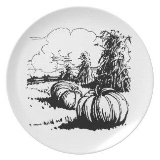 Vintage Thanksgiving Or Halloween Melamine Plate