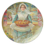 Vintage Thanksgiving Party Plate