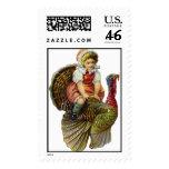 Vintage Thanksgiving Postage Stamps