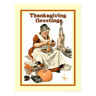 Vintage Thanksgiving Postcard at Zazzle