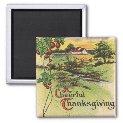 Vintage Thanksgiving Refrigerator Magnets