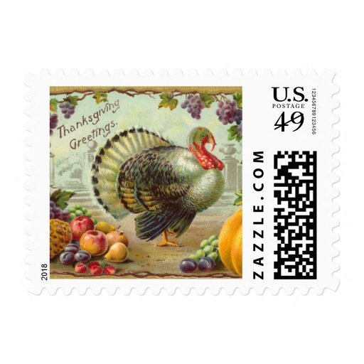 Vintage Thanksgiving Small Postage