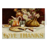 Vintage Thanksgiving Table Card