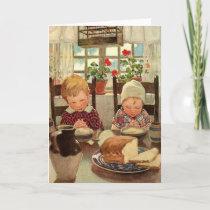 Vintage Thanksgiving, Thankful Children Holiday Card
