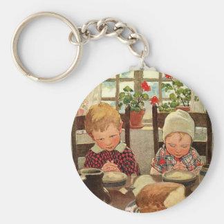 Vintage Thanksgiving, Thankful Children Keychain