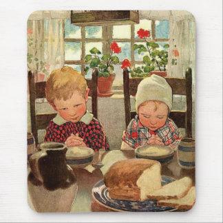 Vintage Thanksgiving, Thankful Children Mouse Pad