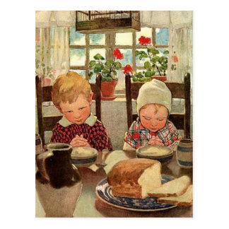 Vintage Thanksgiving, Thankful Children Postcard