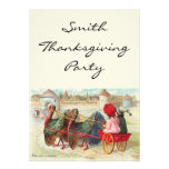 Vintage Thanksgiving Towne Invitation