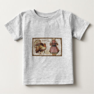 Vintage Thanksgiving Turkey Baby T-Shirt