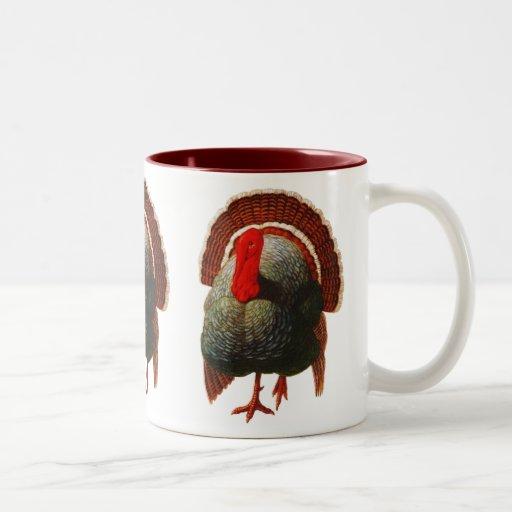 Vintage Thanksgiving Turkey Coffee Mugs