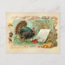 Vintage Thanksgiving Turkey Holiday Postcard