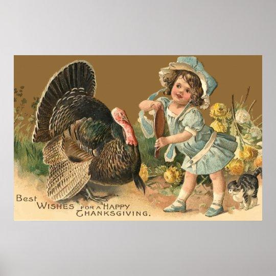 Vintage Thanksgiving Turkey II Poster