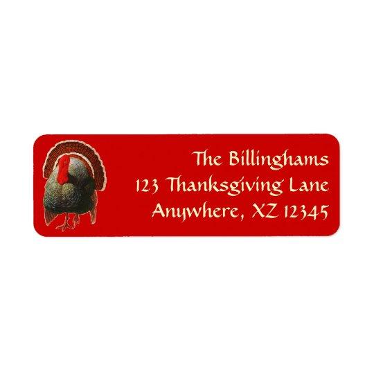 Vintage Thanksgiving Turkey Label
