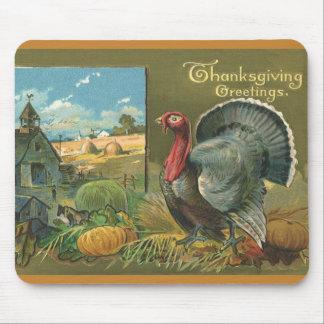 Vintage Thanksgiving, Turkey on the Farm Mouse Pad