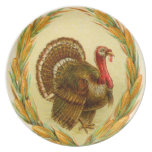 Vintage Thanksgiving Turkey Party Plate
