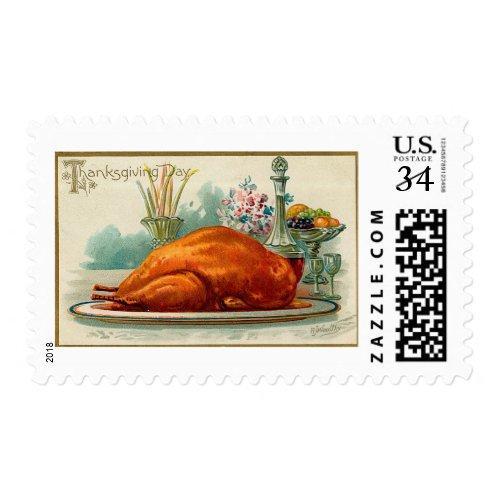 Vintage Thanksgiving Turkey Postage
